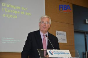 Conference with Michel Barnier