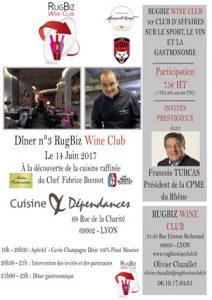 Dîner RugBiz Wine Club